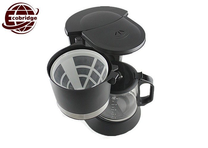 Custom Black 1.2L Mini Coffee Machine With Jug 225*180*295mm RoHS ETL Approved